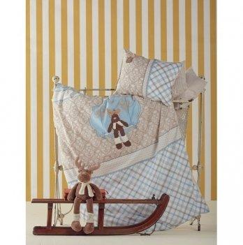 Комплект постельного белья Deer Karaca Home голубой 4 предмета