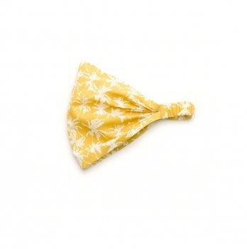 Детская косынка для девочки Модный карапуз Пальмы Желтый 3-24 мес