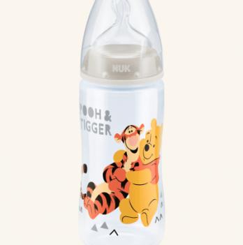 Бутылочка пластиковая NUK First Choice Plus Disney , 300 мл, с силиконовой соской