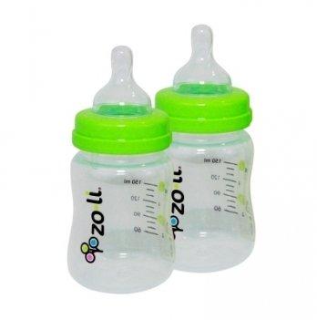 Бутылочка пластиковая ZoLi с силиконовой соской,150 мл