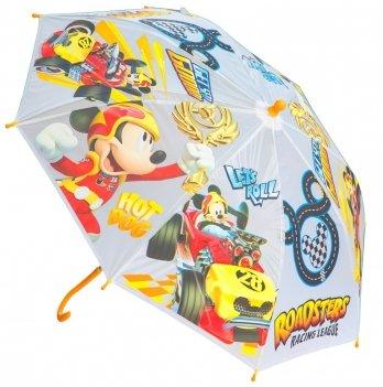 Зонт Disney Микки и веселые гонки, механический, желтый