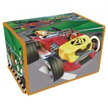 Корзина для игрушек Arditex Микки и веселые гонки, серая
