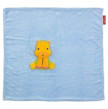 Плед с игрушкой Arditex Fisher-Price Бегемотик, голубой