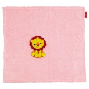 Плед с игрушкой Arditex Fisher-Price Львенок, розовый