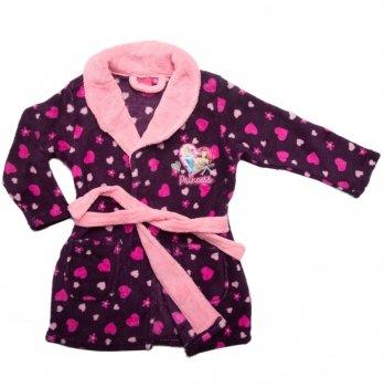 Теплый халат для девочки Disney Sun City Принцессы сиреневый