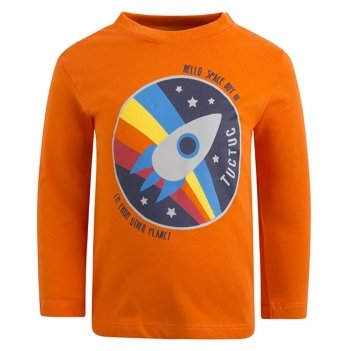 Лонгслив для мальчика Tuc Tuc 50424 Космос оранжевый