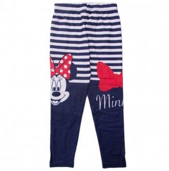 Лосины для девочки, Disney Sun City Минни Маус синие в полоску