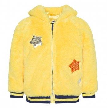 Куртка меховая для девочки Tuc Tuc 50409 Звезда желтый