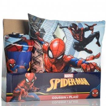 Набор (плед+подушка), Disney Sun City Человек-Паук