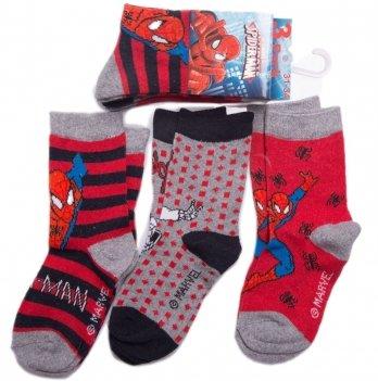 Носки для мальчика, Disney Sun City Человек-паук, 3 пары, красные