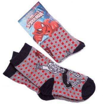 Носки для мальчика, Disney Sun City Человек-паук серые/черные