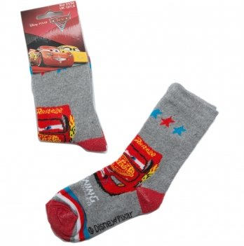Носки для мальчика, Disney Sun City Тачки серые
