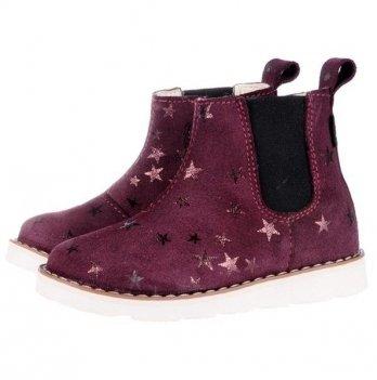 Ботинки для девочки Mrugala Звезда бордо