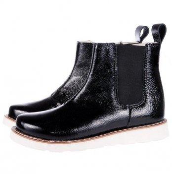Ботинки для девочки Mrugala черные с блеском