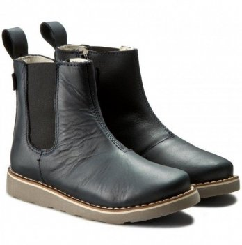 Ботинки для девочки Mrugala черные матовые