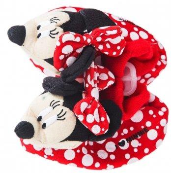 Тапочки-игрушки Disney Минни Маус красные