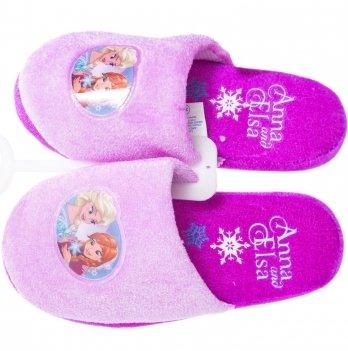 Тапочки-шлепанцы Disney Холодное сердце фиолетовые