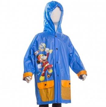 Плащ-дождевик Disney Микки и веселые гонки, голубой