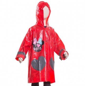 Плащ-дождевик Disney Минни Маус, красный