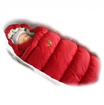 Пуховый конверт Inflated Ontario Baby с меховой подкладкой Зима ART-0000076 красный