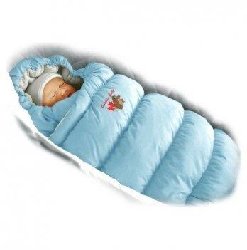 Пуховый конверт Inflated Ontario Baby с меховой подкладкой Зима ART-0000083 голубой