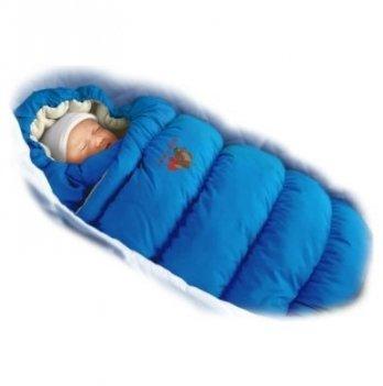 Пуховый конверт Inflated Ontario Baby с меховой подкладкой Зима ART-0000085 синий