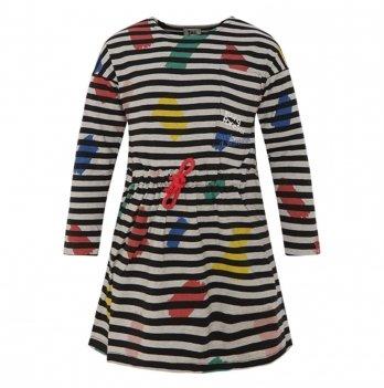 Платье для девочки Tuc Tuc 50616 трикотажное полосатое с мазками
