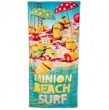 Махровое полотенце, Disney Sun City Миньоны салатовое