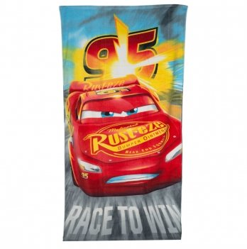 Махровое полотенце, Disney Sun City Тачки красное
