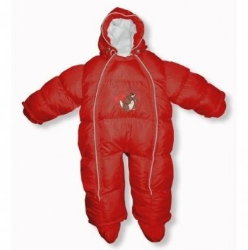 Пуховый комбинезон-трансфоромер Baby Walk Ontario Baby ART-0000334 красный