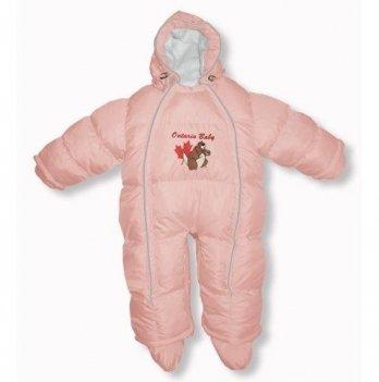 Пуховый комбинезон-трансфоромер Baby Walk Ontario Baby ART-0000335 розовый