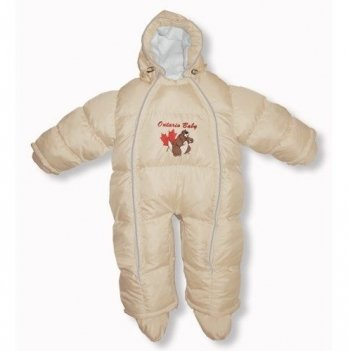 Пуховый комбинезон-трансфоромер Baby Walk Ontario Baby ART-0000336 бежевый