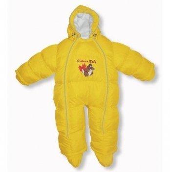 Пуховый комбинезон-трансфоромер Baby Walk Ontario Baby ART-0000337 желтый