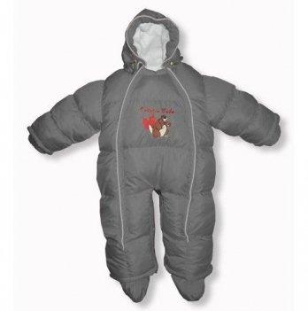 Пуховый комбинезон-трансфоромер Baby Walk Ontario Baby ART-0000342 серый