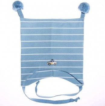 Шапка демисезонная Kivat 351902-02 голубая в белые полосы