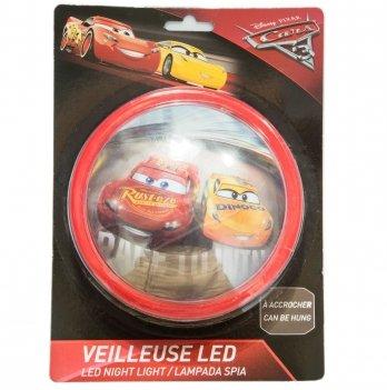Настенный светильник-ночник, Disney Sun City Тачки, светодиодный, красный