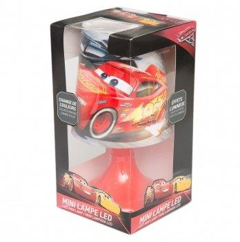 Настольный ночник, Disney Sun City Тачки, светодиодный, красный