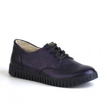 Туфли кожаные для девочки Shagovita 61176_navy