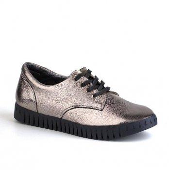 Туфли кожаные для девочки Shagovita 61176_silver