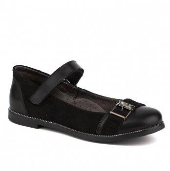 Туфли кожаные для девочки Shagovita 63211_black