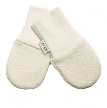 Варежки шерстяные для младенцев Kivat 150-11 молочный