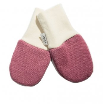 Варежки шерстяные для младенцев Kivat 150-14 пепельно-розовый