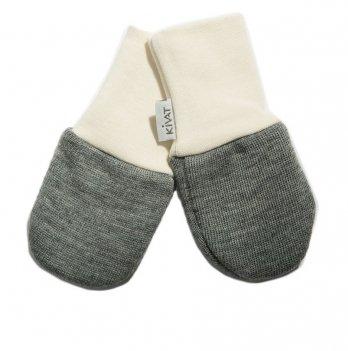 Варежки шерстяные для младенцев Kivat 150-81 серый
