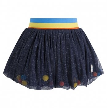 Юбка-сетка для девочки Tuc Tuc 50401 синий с блестками