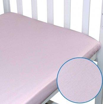 Простынь на резинке детская Руно Розовый 918.114 60х120 см