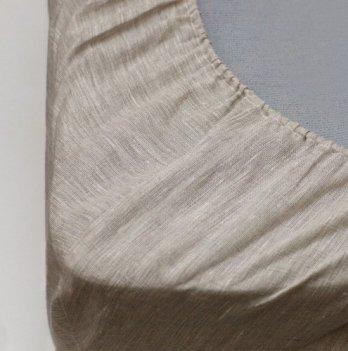 Детская простынь на резинке, лен/хлопок, ЛинТекс