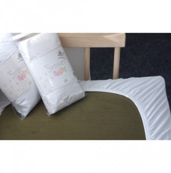 Простынь детская трикотажная DevoHome белая, 140 х 70 см