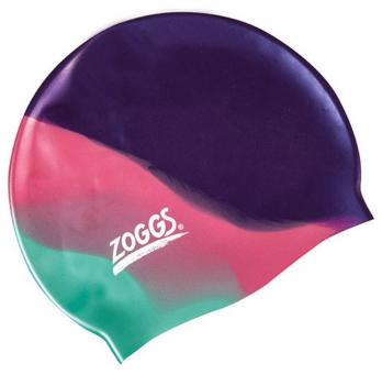 Шапочка для плавания Zoggs Junior Silicone Cap Multi Colour, пурпурная