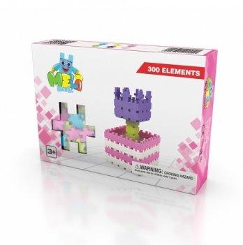 Развивающий 3D конструктор Meli Basic Розовый 300 элементов