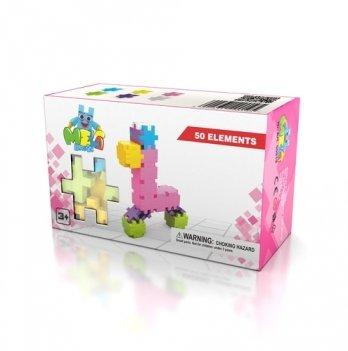 Развивающий 3D конструктор Meli Basic Розовый 50 элементов